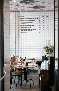 White tiles #menuboard #cafe #restaurant