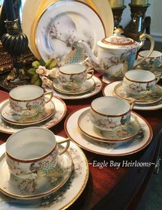 Creamers & Sugar Bowls 1880s To 1920s Nippon Fine Porcelain Creamer And Sugar With Multicolor On White Fragrant Aroma