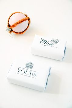 DIY Printable Yours & Mine Soap Wrap (a perfect last-minutes hostess gift) (Minutes Template Free Printable) Printable Lables, Printable Templates, Free Printables, Last Minute, Party Gifts, Diy Gifts, Bussiness Card, Soap Packaging, Diy Wedding Favors