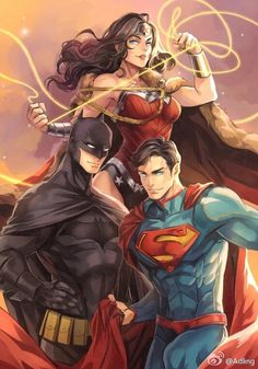 WonderWoman, Batman, Superman
