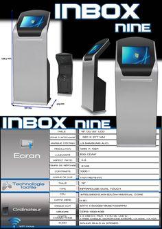 """La dernière en 19"""" INBOX nine, borne tactile interactive"""