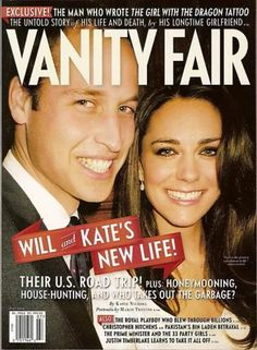 """Vanity Fair Magazine, July 2011, with Prince William and Kate Middleton on the front cover WITH FEATURE ARTICLE """"THEIR NEW LIFE"""""""