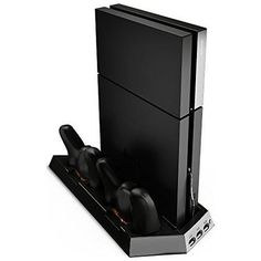 Ortz PS4 Vertical Stand with Cooling Fan + Duel Charging Station Play Station 4