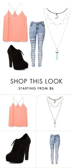 """""""Cute Chic"""" by cece-style ❤ liked on Polyvore featuring MANGO and New Look"""