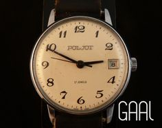 Aged Poljot mens watch