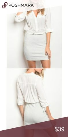 SALE!!NWT Sexy Grey and white mini Flattering mini dress perfect for any occasion Dresses Mini