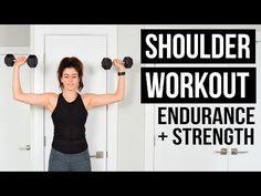Shoulder Workout: Endurance Burnout + Strength Exercises   Pumps & Iron