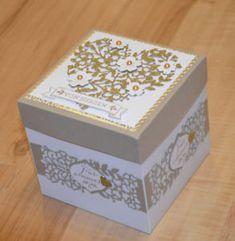 Explosionsbox zur Hochzeit * Goldener Hochzeit * mit Stampin up Geldgeschenk