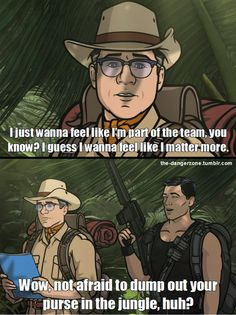 Cyrill and Archer from the 'El Contador' episode. Lol my fave Archer Tv Show, Archer Fx, Haha Funny, Hilarious, Lol, Funny Stuff, Funny Humor, Funny Shit, Archer Quotes