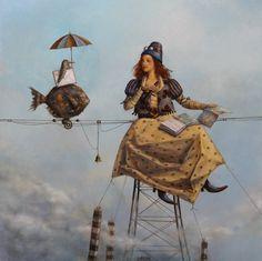 En totes les imatges hi ha tocs de surrealisme si. Illustrations, Illustration Art, Magic Realism, Pop Surrealism, Fish Art, Surreal Art, Love Art, Fantasy Art, Poster