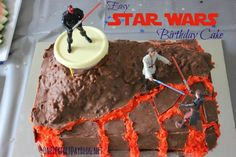 Brilliant Star Wars birthday cake that looks amazing but is actually really simple to make.
