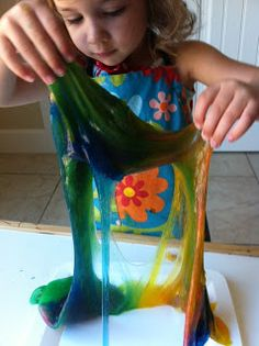 Slime recipe for kids to play with--only two ingredients!