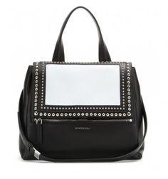 Verzierte, schwarze Ledertasche Pandora Pure Medium By Givenchy
