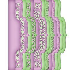 Dies découpe gaufrage bordure crochet Borderabilities Spellbinders - Neuf