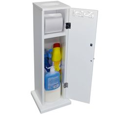 Hiram Freestanding Toilet Roll Holder and Cupboard Toilet Roll Holder, Cupboard Storage, Tissue Holders, White Paints, Bathroom Storage, Plumbing, Rolls, Cabinet, Furniture