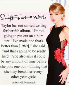 Whoa. Noooo!! I like when she releases an album every other year