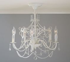 Decorating this nursery is proving to be way too much fun! Mia Flushmount Chandelier #pbkids