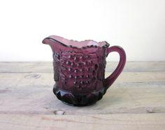 Vintage Purple Amethyst Glass Pitcher Creamer
