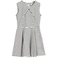 White Stripe Cut-out Back Shift Dress ❤ liked on Polyvore featuring dresses, vestidos, robes, clothes - dresses, white shift dress, striped dresses, stripe dress, cutout back dress and white stripe dress