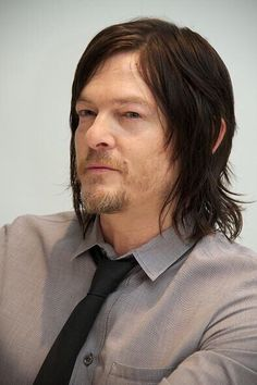 Norman Reedus at The Walking Dead Press Conference on April 20, 2015 in Beverly Hills, California