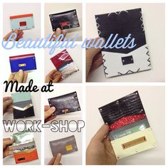 Next one Saturday 7th of June! You can make yourself a leather wallet or oyster holder. Drop in anytime between 12-6pm for a 30 minute session. £20. 6 Newburgh st, W1  Email to book your place - Elizabeth@elizabethdunn.co.uk