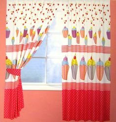 Good Cupcake Decor Curtains | Cupcake Curtains   Unlined At Childrenu0027s Rooms