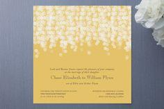 Invitation idea  -although wish it were more gold...
