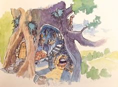 Early History of Nausicaa ===== Miyazaki was fascinated with Beauty & the Beast. This shifted to a princes in a castle with a crazy father, connected with the concept of the Windrider, & eventually became Nausicaa ===== Notes: The Wizard's tree house