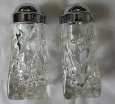 Vintage Anchor Hocking Star of David EAPC Salt & Pepper Shaker Set With Lids