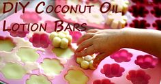 DIY Coconut Oil Lotion Bars - can also just do square soap shape.