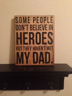 Wood Sign Gift Some people don't believe in by aubreyheath