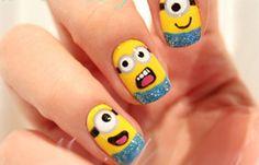 Diseños de uñas para niñas, diseño de uñas para niñas minions.  Únete al CLUB, síguenos! #diseñouñas #nails #uñasdemoda