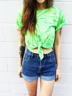 Tie Dye Crop Top Coachella Top Women's Clothing by TheBohipstian