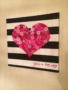 Valentines day button heart