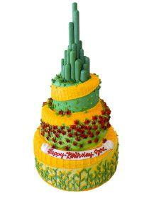 Wizard of Oz Emerald City cake