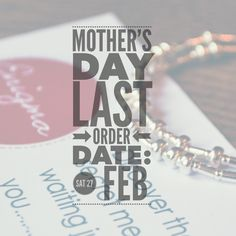 Mother's Day is nearly here!