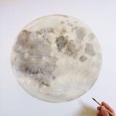Mammoth Moon in honor of August's Sturgeon Moon www.stellamariabaer.com