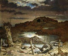 Sir William Orpen: Zonnebeke - 1918 One of the paintings he did as a war artist. World War One, First World, Ww1 Art, Google Art Project, Tate Britain, Irish Art, Art Google, Portrait, Great Artists