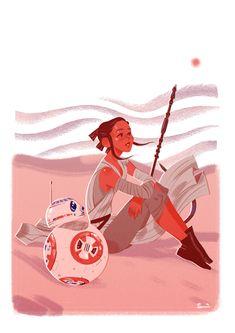 Rey & BB-8 by Sibylline Meynet