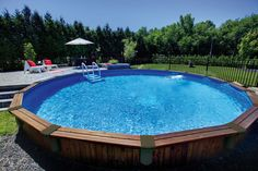 Piscine semi creus e tr vi piscine hors sol pinterest for Piscines semi enterrees