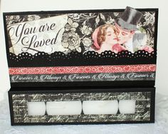 Valentine's Day Card, Tealight Candle Card Valentine 3D Pop Up Card, Graphic 45 Mon Amour Paper handmade greeting card by BellaBoutique23 on Etsy