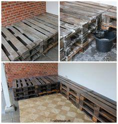 Eu-paller - på terrassen - rengøring med sæbespåner