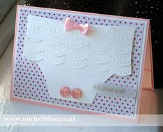 Handmade Baby Card using Stampin' Up! products - Stampin' Up! Demonstrator Michelle Last