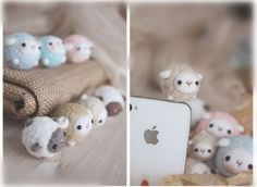 Handmade Cute Sheep Wool Felt Dust Earphone Plug Stopper Cap for iPhone | eBay