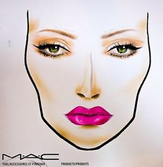 MAC Kelly & Sharon Osbourne Summer 2014 Collection – Color Story & Face Charts via @Chicprofile