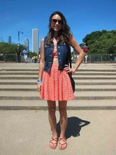Denim vest at Lollapalooza #Lolla