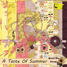 Scrapbooking Blog Train - August 2013, Paris to New York, A Taste of Summer.  Lots of great digital scrapbooking freebies!