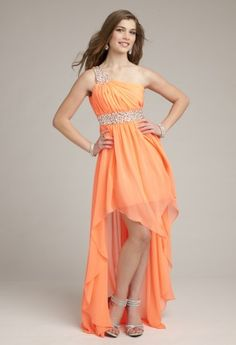 Prom Dresses 2013 - Beaded One Shoulder Prom Dress with High-Low Hem from Camille La Vie and Group USA