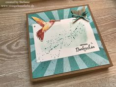 Stampin Up - Verpackung - Box - Dankesbox- Thank You Box - Stempelset Picture Perfect- Global Design Project - GDP#075 - #075 Bermudablau♥ StempelnmitLiebe
