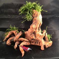 Garnelen Baum / Wurzel Versteck Höhle Ton Aquarium Dekoration | eBay
